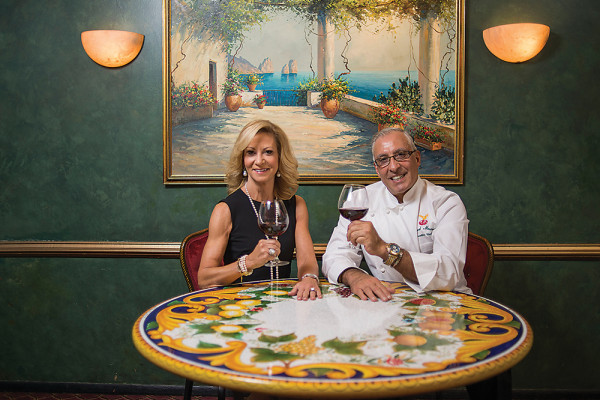 Mary Ann Cricchio and Chef Masood Masoodi pose at Da Mimmo's RestaurantPhotography by Christopher Myers