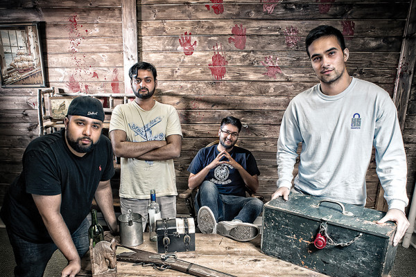 From left: Ashraf Afzal, Fahed and Asad Masood, and Dylan Kapoor founded Escape 45.Photography by Christopher Myers