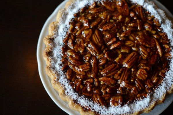 The Thanksgiving pecan pie currently available for pre-order at Johnny's and Petit Louis. Courtesy of Foreman Wolf