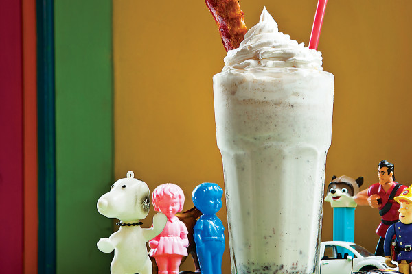 Bacon Milkshake at Papermoon Diner.  Photo by Ryan Lavine