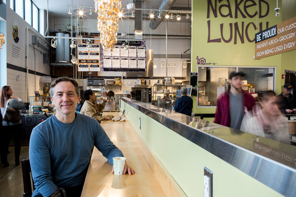 MOM's Organic founder Scott Nash at the store's Hampden location.Photography by Justin Tsucalas