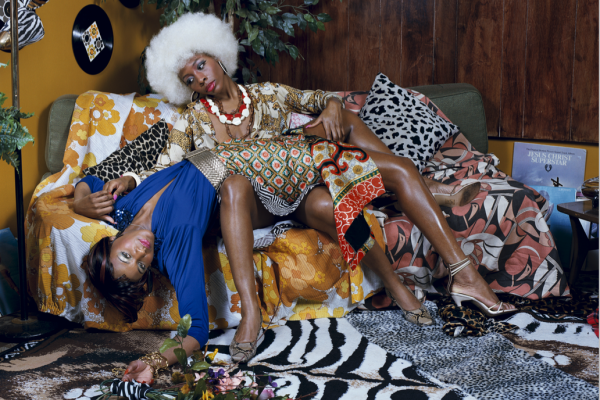 Mickalene Thomas, La leçon d'amour, 2008Courtesy of Lehmann Maupin, New York and  Hong Kong; and Artists Rights Society (ARS), New York