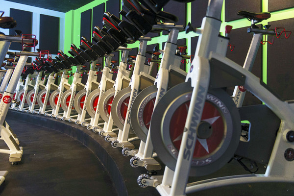 Spin bikes at REV Cycle Studio.Photography by David Colwell