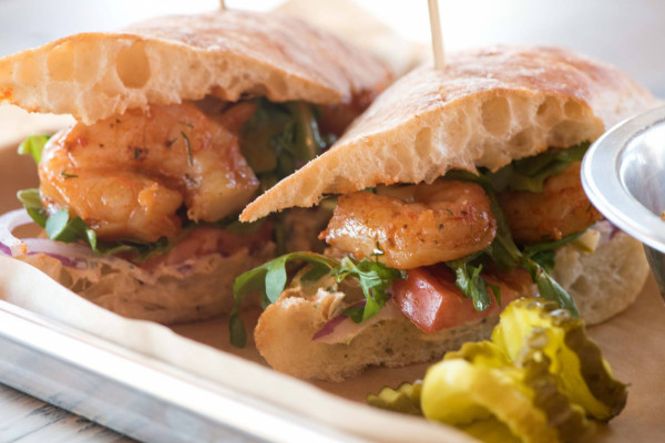 The Louisiana shrimp po' boy at RegionAle, which opened in Ellicott City last week. Courtesy of Wrapped in Clover Photography