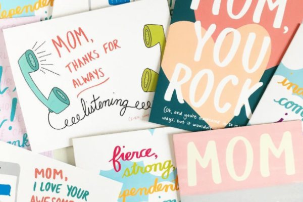 At Pile of Craft, grab Mother's Day cards by Row House 14.Instagram.