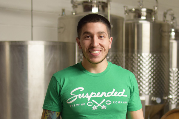 Josey Schwartz of Suspended Brewing Company.Courtesy of Suspended Brewing Company