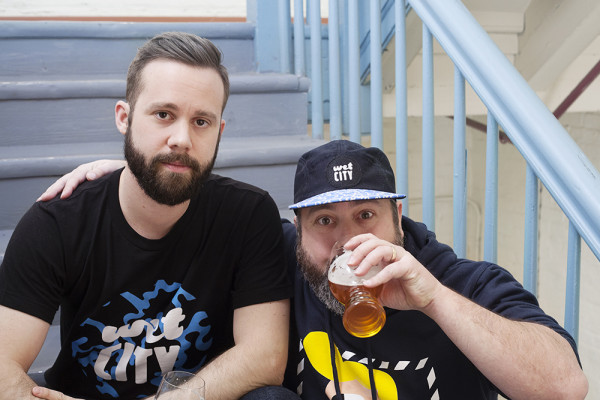 Josh, left, and PJ Sullivan are opening Wet City in Mt. Vernon in early spring.Photography by Kara Black / Hardly Square
