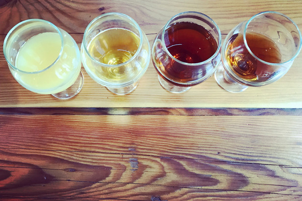 A flight at Monument City Brewing.Jess Mayhugh