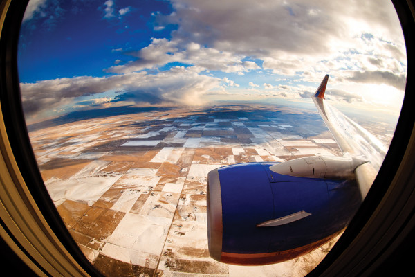 The view from a flight over Colorado.Courtesy of Josh Hunter