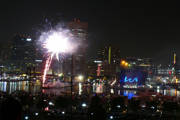Fireworks over the Inner HarborCourtesy of zoopmon (flickr)