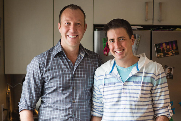 TV reporters Adam May, left, and Derek Valcourt met through a love of journalism. Photography by Ryan Lavine