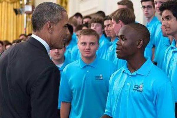 Marcus Shaw meets President Obama at The White House last summer.Courtesy of Marcus Shaw