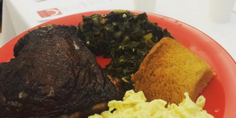 A meal prepared for veterans by local barbecue food truck Jurassic Pork.Courtesy of @thebaltimorestation via Instagram