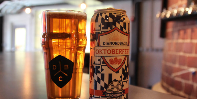 Oktoberfest beer inside Diamondback's new taproom.Meredith Herzing