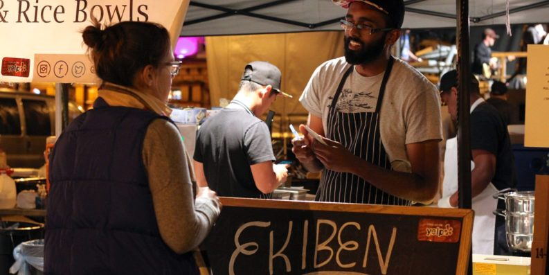 Nick Yesupriya (pictured) serving Ekiben's signature Asian fusion fare.Courtesy of Ekiben
