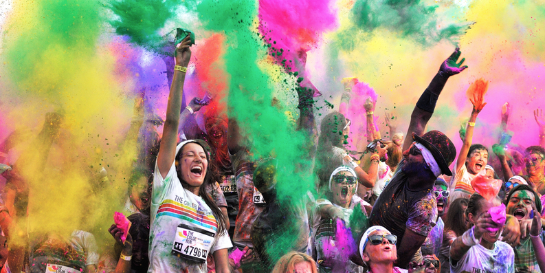The Color Run takes place in Baltimore on May 23.Shutterstock