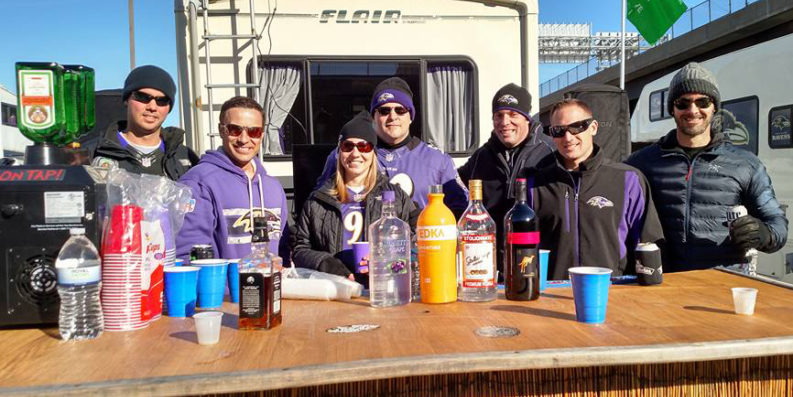 Courtesy of The Original Ravens Tiki Tailgate