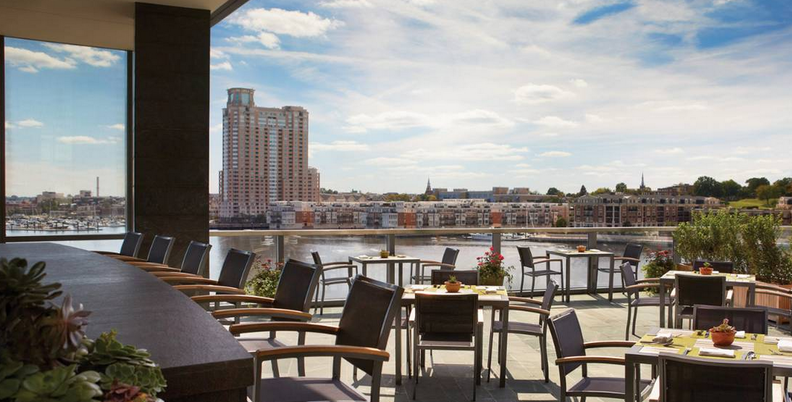 Best rooftop bars baltimore magazine for Design hotel deck 8