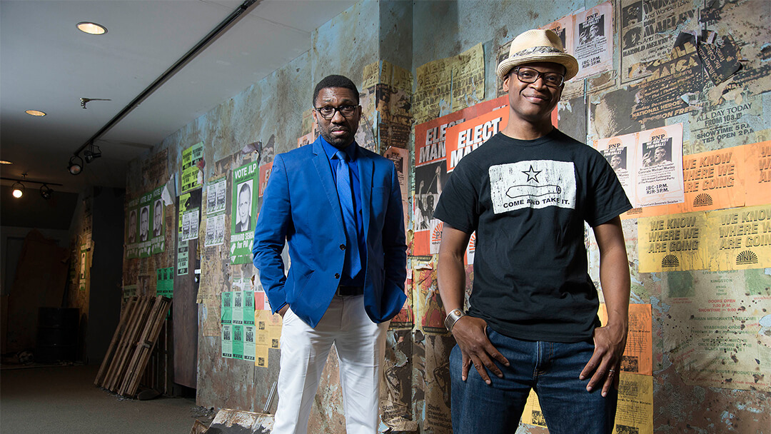Photo of Lawrence Gilliard Jr. & his friend  Kwame Kwei-Armah