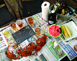 Beer and crab pairing test