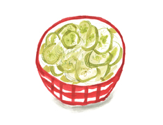 cucumber salad illustration